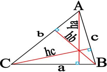 بدست آوردن اجزاء مجهول مثلث به کمک اجزاء معلوم